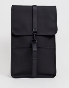 Черный непромокаемый рюкзак Rains 1220-Черный цвет