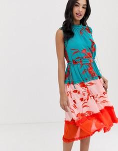 Платье миди с принтом Ted Baker Camelis-Мульти