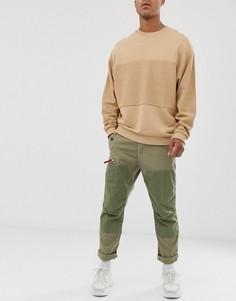 Зауженные брюки-карго цвета хаки G-Star Torbin-Зеленый
