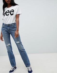 Потертые джинсы в стиле 90-х Lee-Синий