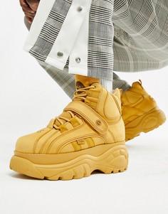 Высокие кроссовки на толстой подошве Buffalo Classic-Светло-коричневый