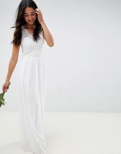 Свадебное платье с кружевом Little Mistress-Белый