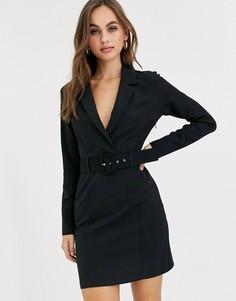 Черное платье-смокинг Miss Selfridge-Черный