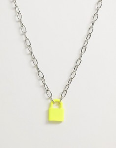 Неоново-желтая цепочка с подвеской WFTW-Желтый