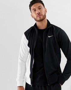 Спортивная куртка с логотипом Nike-Черный