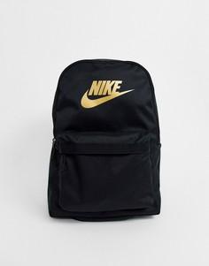 Черный рюкзак с логотипом Nike