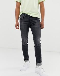 Выбеленные серые джинсы скинни Diesel Sleenker X 084AT-Серый