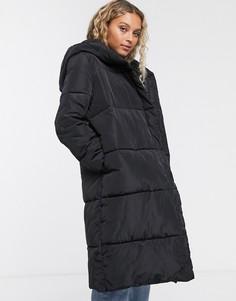 Свободное дутое пальто Selected Femmе-Черный