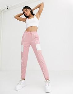 Розовые джоггеры с окантовкой Puma-Розовый