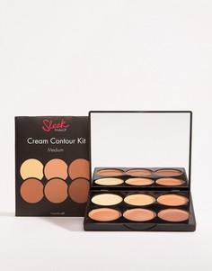 Набор для контурирования лица кремовой текстуры Sleek MakeUP - Medium-Светло-коричневый