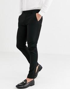 Черные супероблегающие брюки под смокинг ASOS DESIGN-Черный