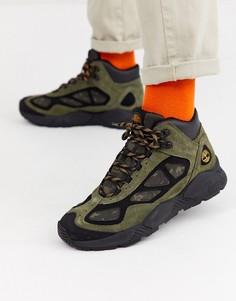 Ботинки средней высоты цвета хаки с камуфляжным принтом Timberland ripgorge-Зеленый