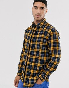 Желтая рубашка в клетку Jack & Jones Originals-Желтый