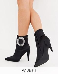 Черные ботинки для широкой стопы со стразами ASOS DESIGN Eclectic-Черный