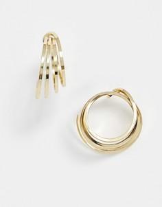 Золотистые спиральные серьги-кольца & Other Stories-Золотой