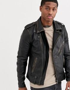 Байкерская куртка Bolongaro Trevor-Черный