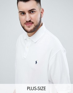 Поло белого цвета из ткани пике с логотипом Polo Ralph Lauren Big & Tall-Белый