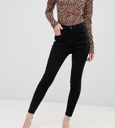 Черные джинсы скинни с завышенной талией River Island Petite Harper-Черный