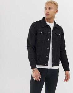 Черная облегающая джинсовая куртка Another Infuence-Черный