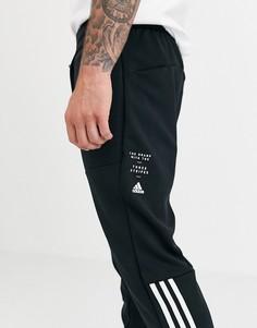 Черные брюки adidas Training ID-Черный