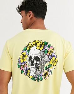 Желтая футболка Quiksilver OG Dead Flowers-Желтый