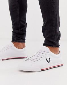 Белые кожаные кроссовки Fred Perry Underspin-Белый