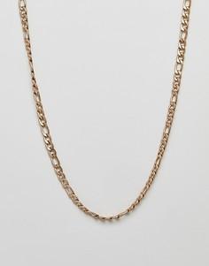 Золотистое ожерелье-цепочка плетения фигаро WFTW — 7 мм-Золотой