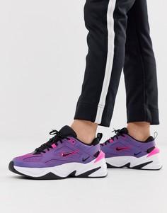 Фиолетовые переливающиеся кроссовки Nike M2K Tekno-Фиолетовый