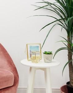 Цветочный горшок под мрамор с искусственным растением Candlelight-Серый