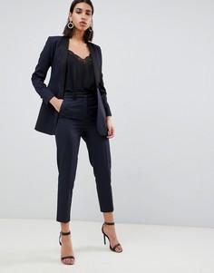 Узкие премиум-брюки под смокинг ASOS DESIGN-Темно-синий
