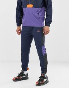 Темно-синие спортивные брюки от комплекта с принтом Bershka-Синий