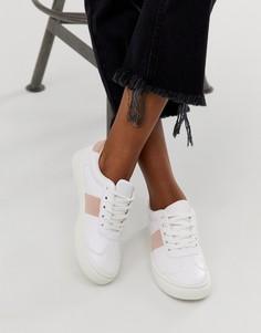 Кроссовки с полосками по бокам Park Lane-Белый