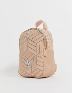 Маленький кремовый рюкзак с геометрическим рисунком adidas Originals 3D