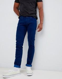 Зауженные джинсы цвета индиго Lee luke-Синий