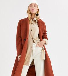 Строгое пальто миди цвета ржавчины Monki-Коричневый