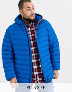 Ярко-синяя дутая куртка с капюшоном Duke king size-Синий