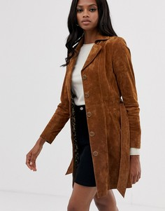 Замшевое пальто Goosecraft-Медный