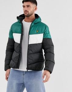 Дутая куртка колор блок Lyle & Scott-Черный