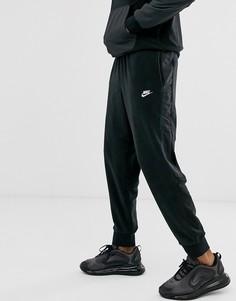 Черные зимние флисовые джоггеры с манжетами Nike-Черный