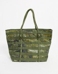 Камуфляжная сумка-тоут Nike Air Force-Зеленый