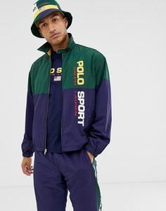 Темно-синяя куртка с логотипом Polo Ralph Lauren-Темно-синий