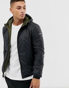 Двусторонняя куртка (черная/хаки) с логотипом на спине Emporio Armani-Черный