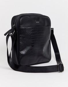 Черная сумка для авиапутешествий с крокодиловым рисунком Dune Nasha-Черный