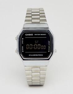 Цифровые часы (серебристый/черный зеркальный) Casio A168W-Серебряный