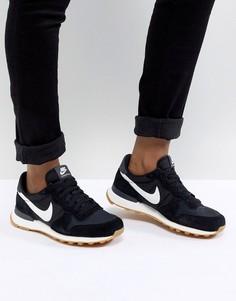 Черно-белые кроссовки Nike Internationalist-Черный