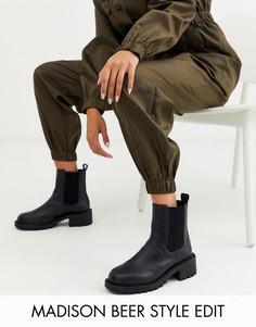 Черные массивные ботинки челси ASOS DESIGN Action-Черный