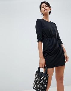 Платье с поясом и драпировкой French Connection Elsa-Черный