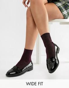Туфли на плоской подошве для широкой стопы ASOS DESIGN-Черный