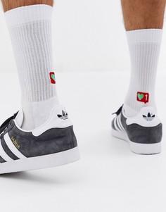 Спортивные носки с принтом ASOS DESIGN-Белый