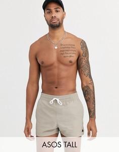 Серые короткие шорты для плавания ASOS DESIGN Tall-Серый